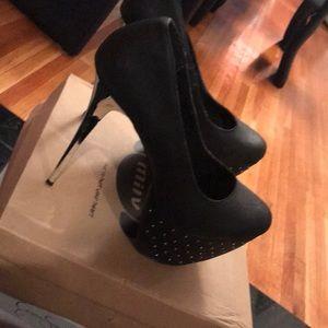 Black size 10 Monday Platform Heels